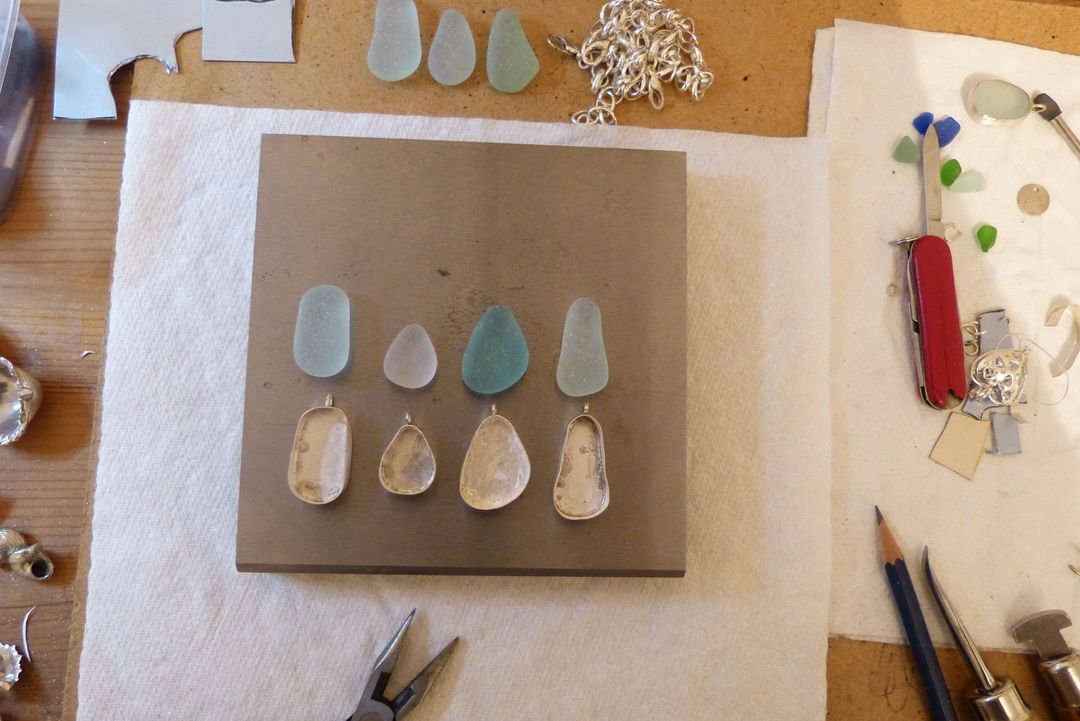 sea glass bezels, the strandline
