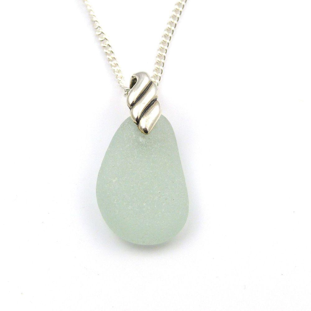 Seafoam Sea Glass Necklace CLAUDIA
