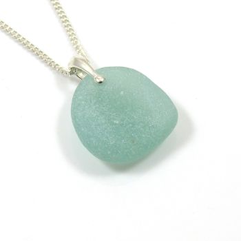 Pale Julep Sea Glass Necklace  BETHANY