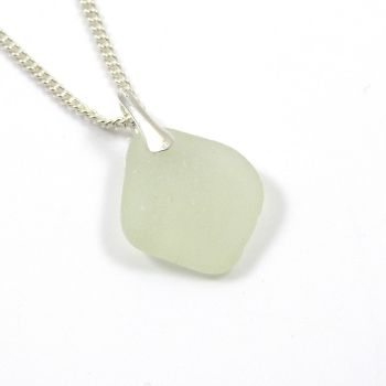 Seamist Sea Glass and Sterling Silver Necklace LAILA