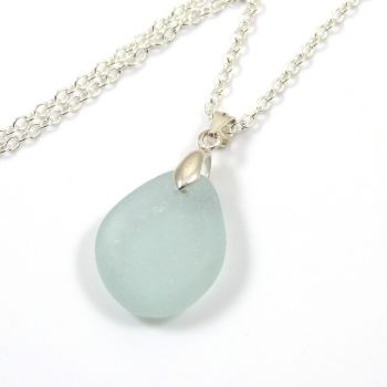 Pale Blue Sea Glass Necklace MARIA