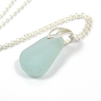 Pale Seafoam Sea Glass Necklace ERIN