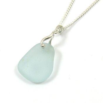 Pale Blue Sea Glass Necklace GABRIELLE