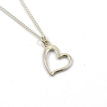ONLY 1 LEFT! Sterling Silver Heart Necklace - Simple - Dainty - Minimalist
