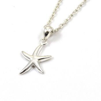 Sterling Silver Starfish Necklace - Simple - Dainty - Minimalist