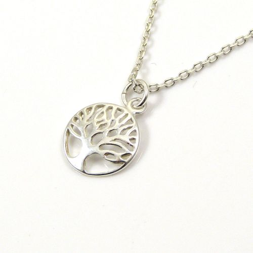 Sterling Silver Tree of Life Necklace - Simple - Dainty - Minimalist