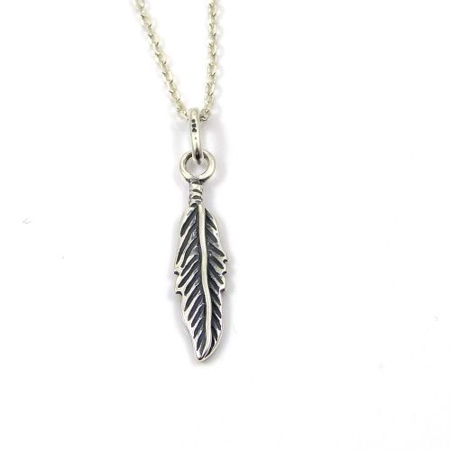 Sterling Silver Feather Necklace - Simple - Dainty - Minimalist
