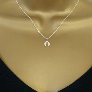 Sterling Silver Horseshoe Necklace - Simple - Dainty - Minimalist