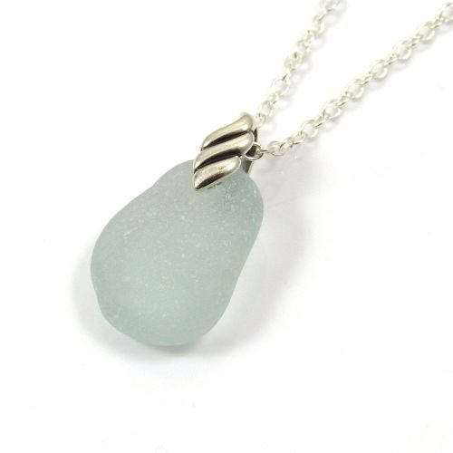 Seafoam Sea Glass Necklace LEONE