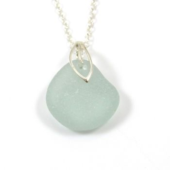 Seafoam Sea Glass Necklace ODILA