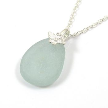 Seafoam Sea Glass Necklace FELICIA