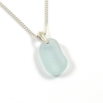 Seaspray Sea Glass and Silver Necklace TONI