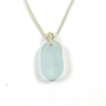 Seaspray Sea Glass and Silver Necklace MELANIE