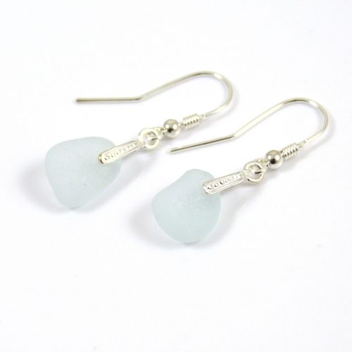 Seamist Sea Glass Sterling Silver Earrings e51