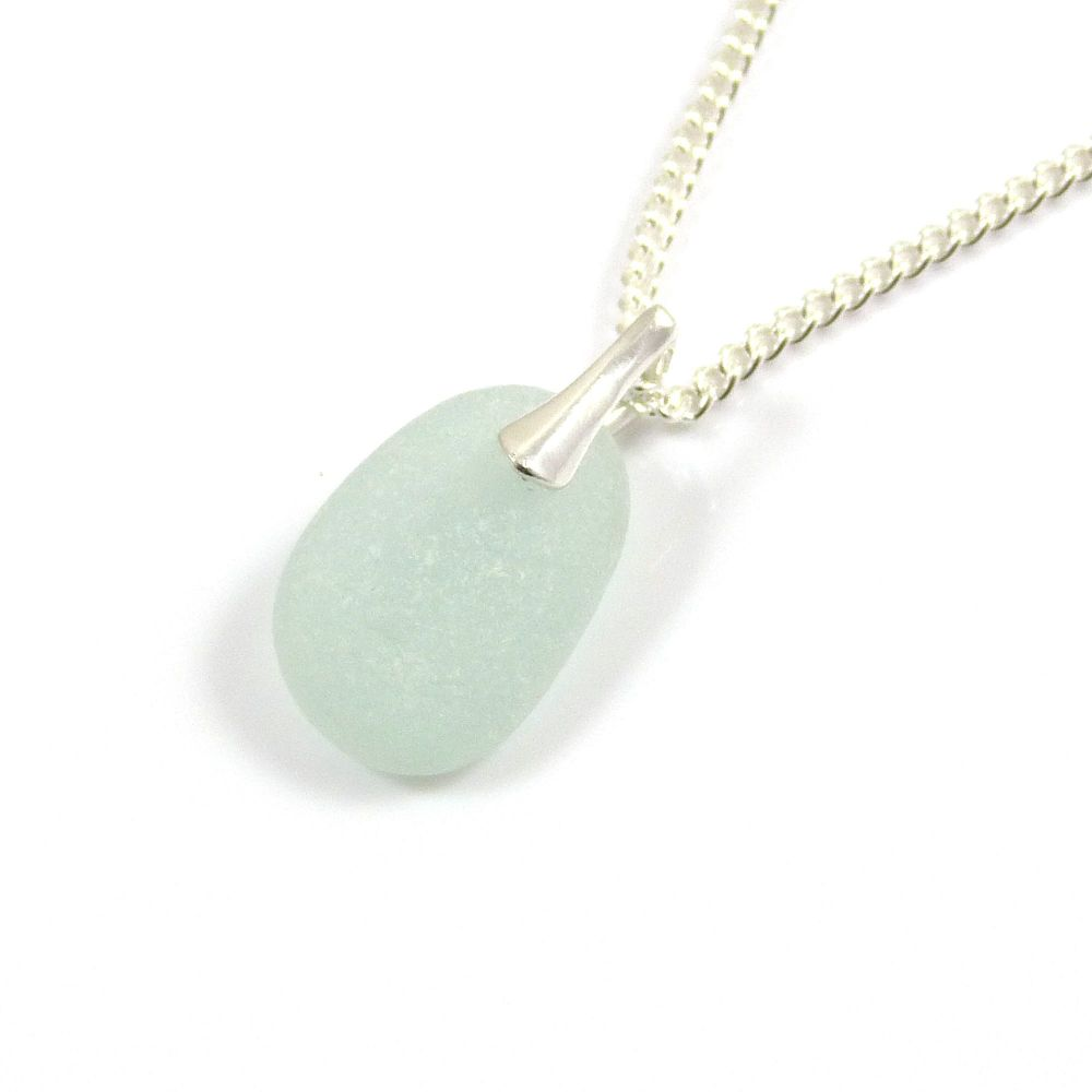 Seamist Sea Glass and Sterling Silver Necklace GIGI