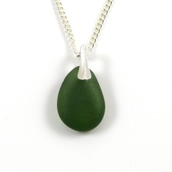 Kelly Green Sea Glass Necklace BEBE