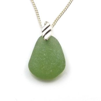 Kelly Green Sea Glass Necklace RENEE
