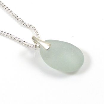 Seaspray Sea Glass and Sterling Silver Necklace LIANA