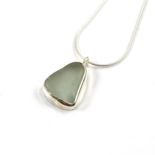 Seafoam Sea Glass Pendant Necklace RIVA