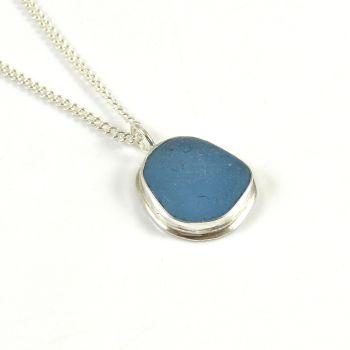 Teeny Tiny Sky Sea Glass Pendant Necklace AIMEE