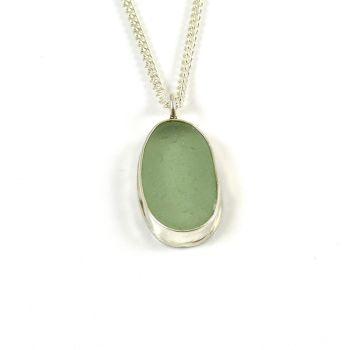 Seafoam Green Sea Glass Pendant Necklace ADALIZ