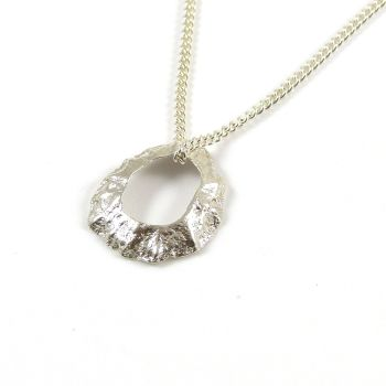 Sterling Silver Cast Limpet Seashell with Hole Pendant Necklace