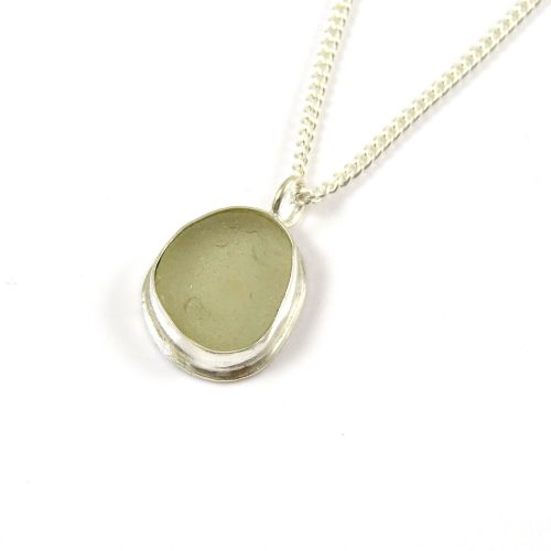 Seamist Sea Glass Pendant Necklace SIMONE