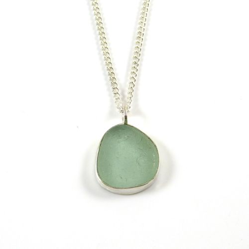 Pale Julep Sea Glass Pendant Necklace ELODIE