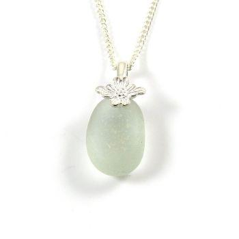Seafoam Blue English Sea Glass Necklace ESME