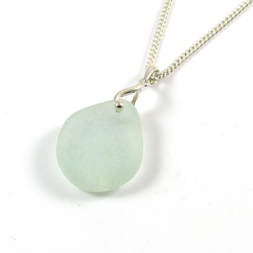 Aquamarine Sea Glass Necklace PAGE
