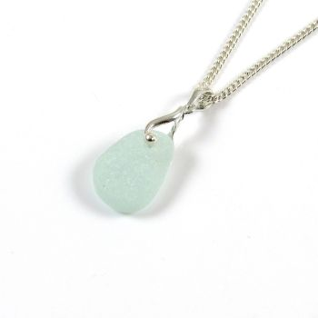 Honeydew Sea Glass and Silver Necklace NICOLETTE