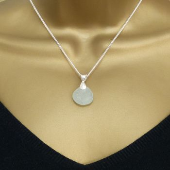 Blue Seafoam Sea Glass Necklace MIGNON