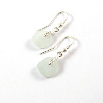 Seamist Sea Glass Sterling Silver Drop Earrings