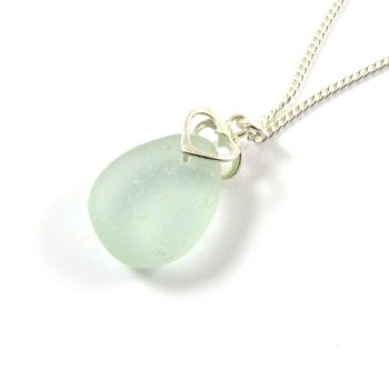 Seafoam Sea Glass Necklace GISELLE