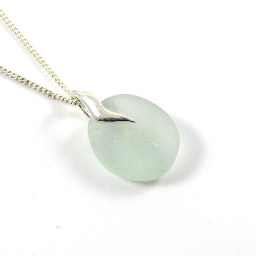 Seafoam sea glass pendant necklace villetta statement piece aloadofball Choice Image