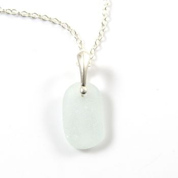 Seaspray Sea Glass and Silver Necklace MERLA
