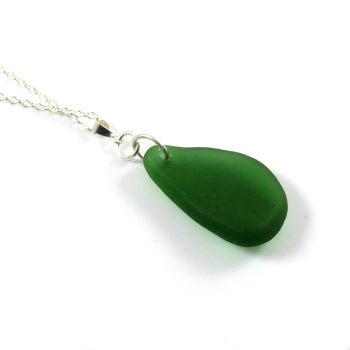 Kelly Green English Sea Glass Necklace MADELON