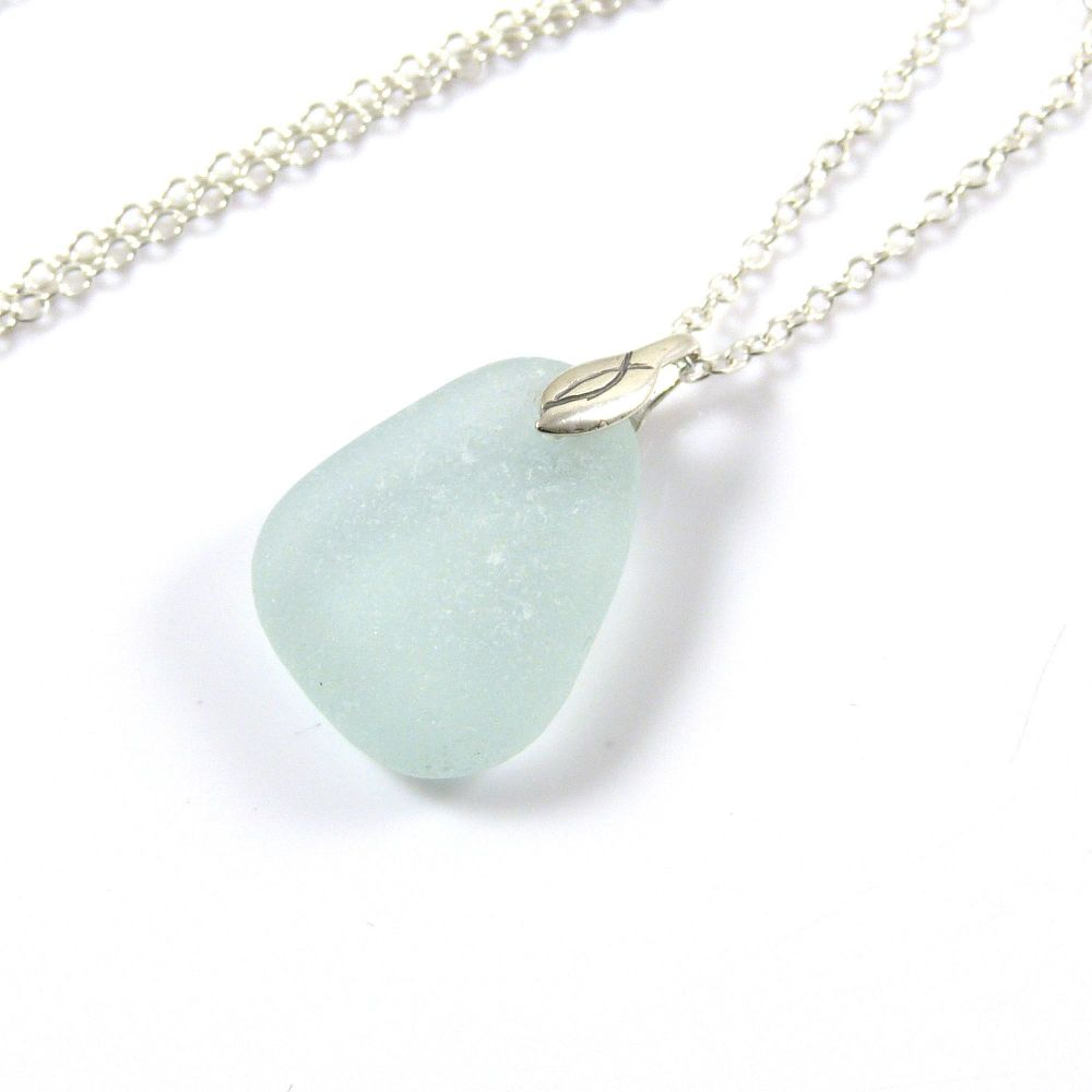 Seafoam Sea Glass Necklace CHIANA