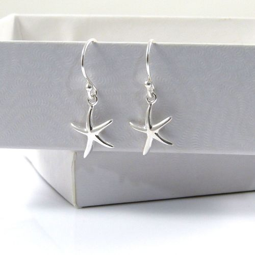 Sterling Silver Starfish Drop Earrings