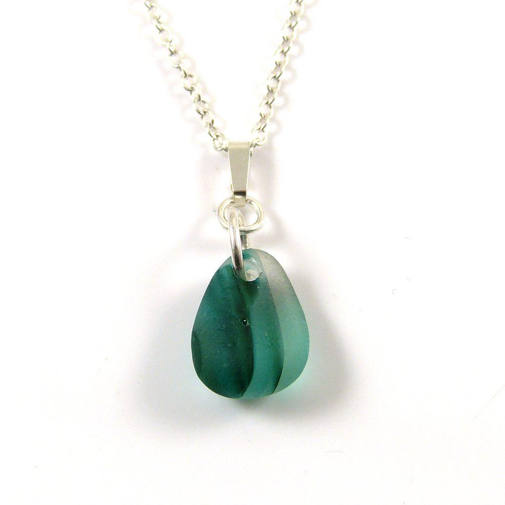 Jade Green English Sea Glass Multi Necklace ADALINA