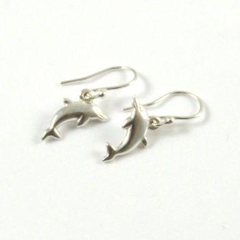 Sterling Silver Dolphin Drop Earrings