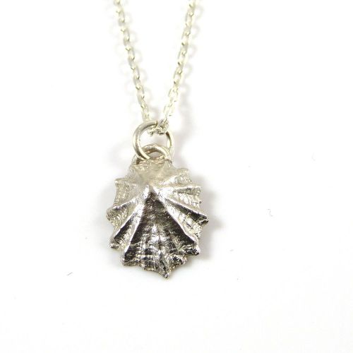 Sterling silver cast limpet seashell pendant necklace aloadofball Gallery