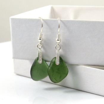 Sea Glass Drop Earrings e70