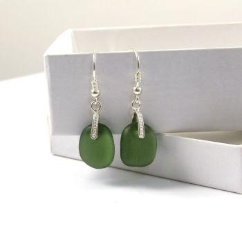 Sea Glass Drop Earrings e73