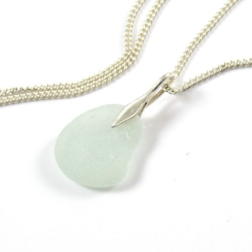 Seaspray Sea Glass and Silver Necklace ALAINA
