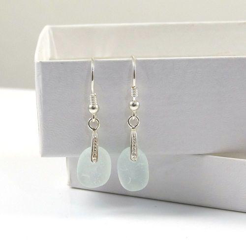 Seamist Sea Glass Sterling Silver Earrings e75