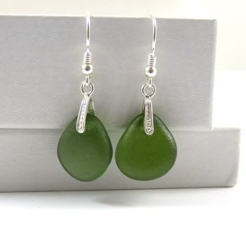 Sea Glass Earrings e77