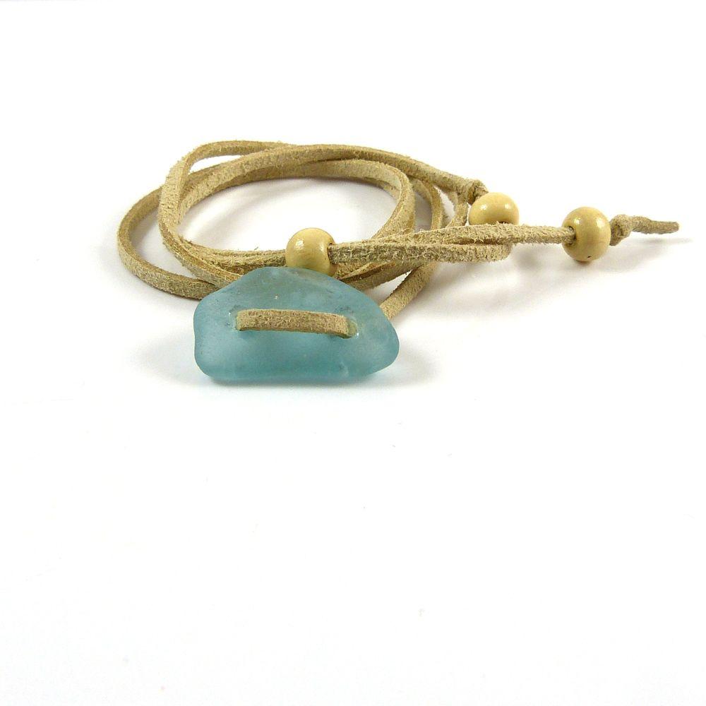 Adjustable Sea Glass Wrap Bracelet