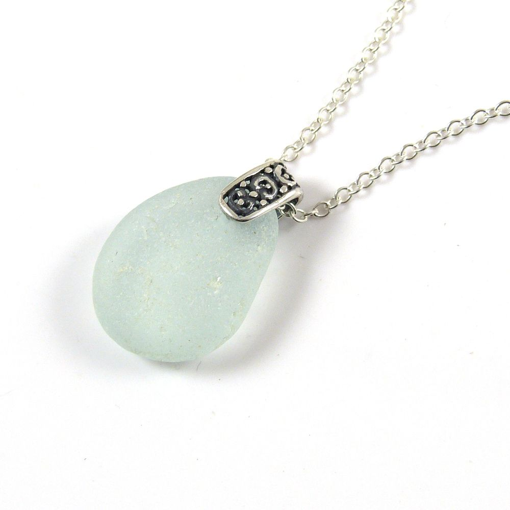 Sea Glass Necklace, Seaspray, TONI