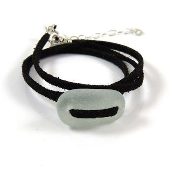 Adjustable Seafoam Sea Glass Wrap Bracelet